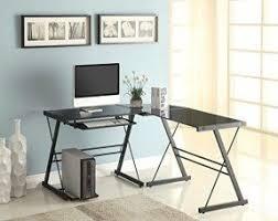 office home desks. perfect office naomi home 3 piece sedalia glass office desk black on desks