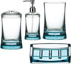 wonderful blue glass bathroom accessories contemporary exterior thedancingpa com