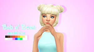 Lana Cc Finds Bob N Buns By Pastel Sims Ts4 Hair Female