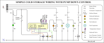 cold storage refrigeration air conditioning cold room wiring diagram