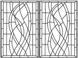coloring created from a art deco stained glass spotted in a hotel in madrid complex
