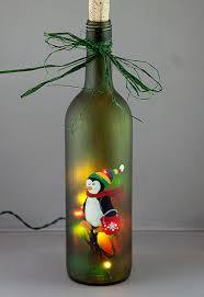 Decorative Wine Bottles With Lights Lighted Wine Bottle Hand Painted Penguin by Jeremyzombie on DeviantArt 21