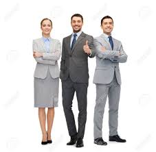 Business People Gesture And Office Concept Group Of Smiling