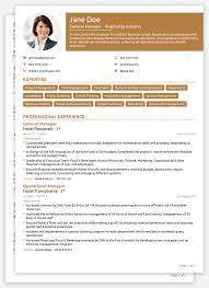 Cv Template Template Resume Format