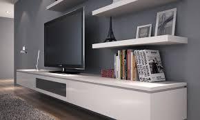 floating wall tv unit tv shelf metre floating entertainment unit in alpine vanilla gloss floating tv