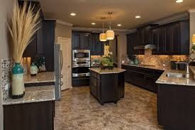 cabinet and lighting. model kitchens dark cabinets and light tile finish give this kitchen a cabinet lighting t