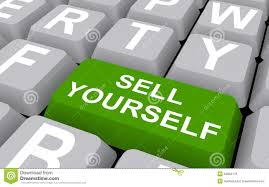 sell yourself computer keyboard red key promotion marketing stock sell yourself button stock photo