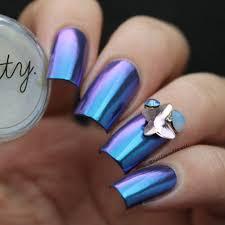 Mitty Chrome Nail Art Powder Blue Bullet – Snail Vinyls