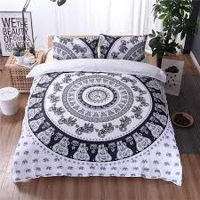 whole national style elephant duvet cover set mandala duvet cover with pillow sham boho bedding sets twin full queen king bedclothes sheet set queen