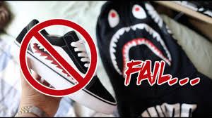 bape shark teeth custom fail