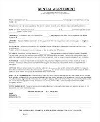 One Page Lease Agreement One Page Rental Agreement Word Document Moontex Co