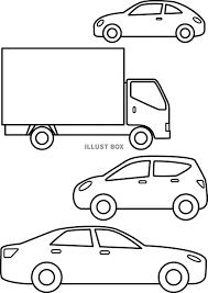 無料イラスト 車の塗り絵