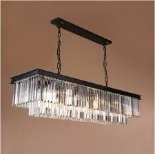 Modern Rectangular Lustre <b>Crystal Chandelier Lighting Crystal</b> ...