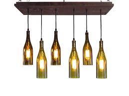 wine bottle chandelier rustic modern lighting within designs 3