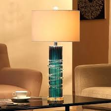 lamp teal blue glass mosaic jar table lamp pair of mid century lamps clift base