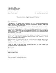 Child Custody Letter Sample Custody Letter Magdalene Project Org