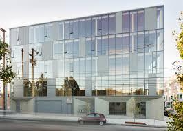 Glass facade design office building Panels Dezeen Glass Facade Reveals Timber Structure Of Portland Office Building