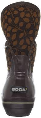 Bogs Womens Plimsoll Mid Leaf Waterproof Waterproof Winter Rain Boot