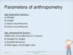 Arm Circumference And Weight Chart Anthropometry