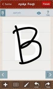 own handwriting font in android