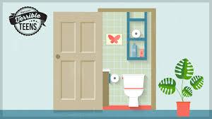 My 'open bathroom door' policy freaks out my kids