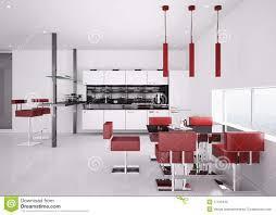 Modern Kitchen Interiors Modern Kitchen Interior 3d Render Stock Photos Image 17415433
