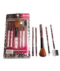 imported make up brush set of 5 multi color