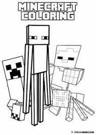 Small Picture A free printable Minecraft games coloring in picture of Minecraft
