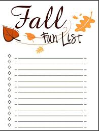 Bucket List Printable Template 7 Best Images Of Printable Blank Fall Bucket List Fall