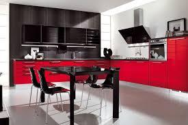 Black And Red Kitchen Designs Kitchen Design Ideas With White Photo