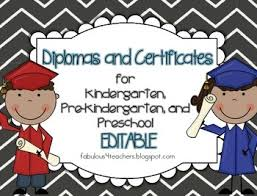 free preschool certificates diplomas certificates editable for preschool pre kindergarten and kindergarten
