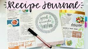 Recipe Journal Template Recipe Journal Setup And Flip Through