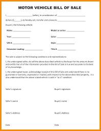 Bill Of Sale Receipt Template Used Car Bill Of Sale Form Bill Of ...
