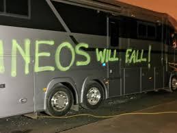 Ineos Grenadiers team vehicles vandalized in Belgium