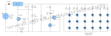 12v solar led night activated lamp circuit diagram 12v solar led night activated lamp circuit