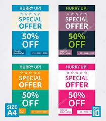 Special Offer Flyer Flyer Design Special Offer Stock Vector Aleksorel 107648286