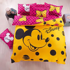 home textile cartoon bedding set mickey minnie mouse pattern bed linen include duvet cover bed sheet 012 1000x1000 jpg
