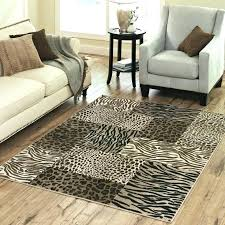 giraffe print rug animal