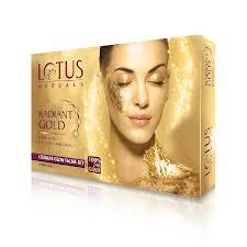 lotus herbals radiant gold cellular glow single kit