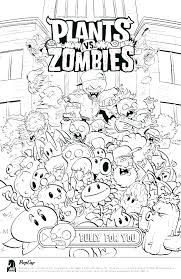 Coloring Pages Plants Vs Zombies Coloring Scary Zombie Colouring