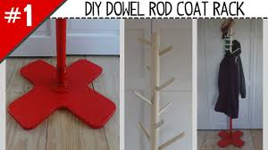 Coming And Going Coat Rack DIY Dowel Rod Coat Rack Part 100 Of 100 YouTube 74