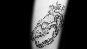 тату череп волка 70 татуировок