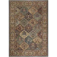 bellevue collection black tan 3 ft x 5 ft area rug