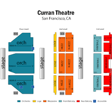 Accurate Curran Theatre Seating Curran Seating Chart San