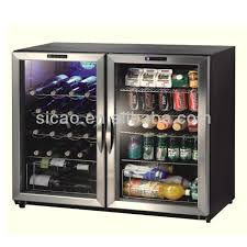 170l double glass door display fridge for beer soft drink wine cans intended mini clear ideas 4