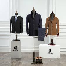 Suit Display Stands Half body fiberglass male mannequin formal dress suit display 6