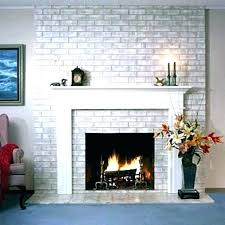 pictures of mantels on brick fireplaces white