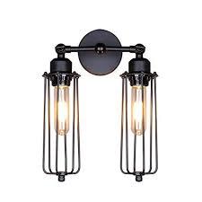 vintage industrial lighting fixtures. Lightess Wall Sconce Light Vintage Industrial Mini Cage Black Lamp Lighting  Fixture With 2 Lights Vintage Industrial Lighting Fixtures H