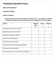 Evaluation Form Template Training Evaluation Form Templates Boss Pinterest Evaluation