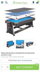 mightymast revolver 7ft 3 in 1 pool hockey and table tennis